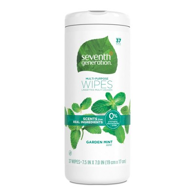 Seventh Generation Garden Mint Scent Multi Purpose Wipes - 37ct