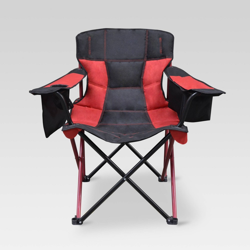 Image of Outdoor Patio Elite Quad Chair Cherry Red - Caravan, Red Red