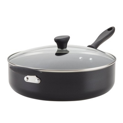 Farberware Reliance 6qt Covered Saute Pan with Helper Handle Black