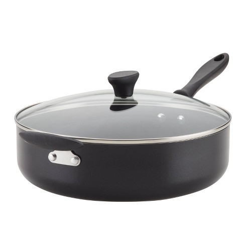 Farberware Reliance 6qt Covered Saute Pan with Helper Handle Black - image 1 of 4