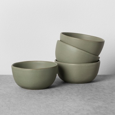 4pk Stoneware Mini Bowl Set Green - Hearth & Hand™ with Magnolia
