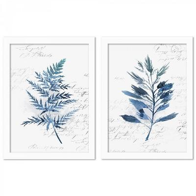 (Set of 2) Botanical Blue by PI Creative Art Wall Art Set - Americanflat