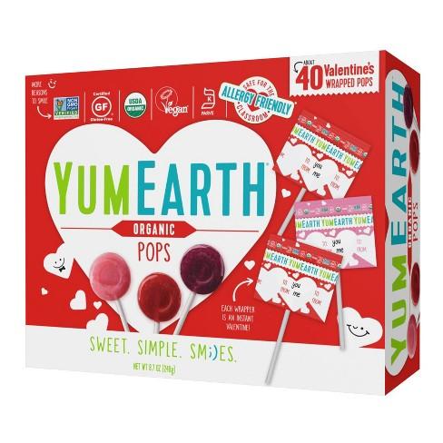 YumEarth Organic Valentine Exchange Pop Box - 8.7oz/40ct - image 1 of 1