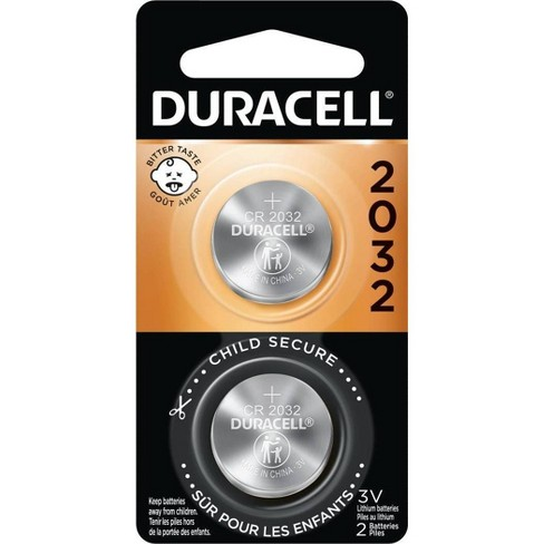 Duracell 2032 Batteries Lithium Coin Button - 2 Pack - Specialty Battery w/ Bitterant Technology - image 1 of 4