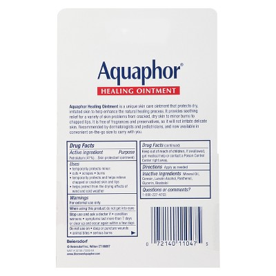 Unscented Aquaphor ON-THE-GO Healing Ointment - 0.35oz