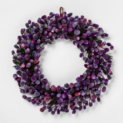 21.2  Dried Thistle Wreath Purple - Smith & Hawken™