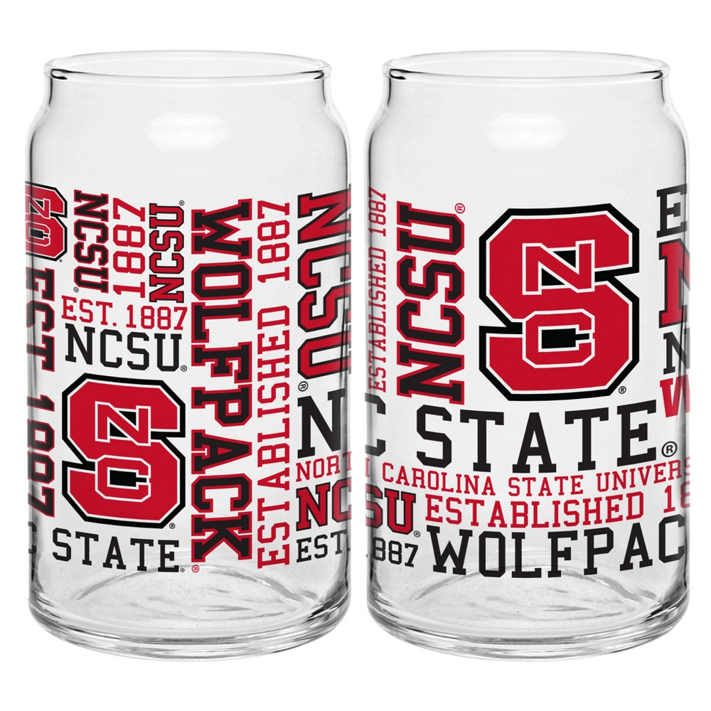 NC State Wolfpack 2pk Spirit Can Glasses