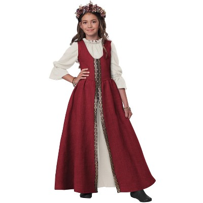 California Costumes Renaissance Faire Dress Child Costume (Red)