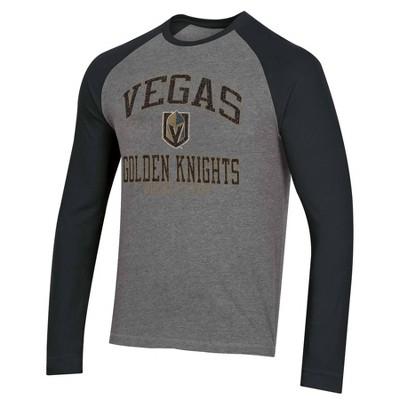 NHL Vegas Golden Knights Men's Long Sleeve Raglan T-Shirt - L