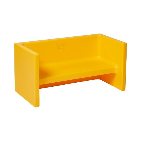 Incredible Ecr4Kids Tri Me 3 In 1 Cube Bench Portable Indoor Outdoor Play Seat Or Table For Kids And Toddlers Yellow Creativecarmelina Interior Chair Design Creativecarmelinacom