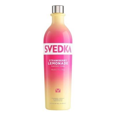 SVEDKA Strawberry Lemonade Flavored Vodka - 750ml Bottle