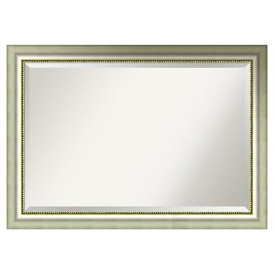 Vegas Silver Framed Wall Mirror - Amanti Art