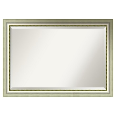 "Wall Mirror Extra Large (41"" x 29"") Vegas Burnished Silver - image 1 of 8"