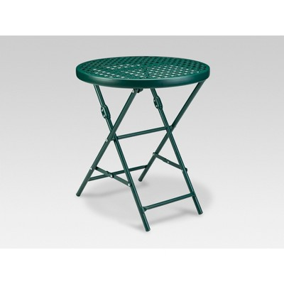Metal Punch Accent Table Dark Green   Threshold™