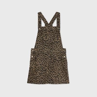 Girls' Leopard Print Dress - art class™ Brown