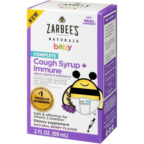 Zarbees Baby Cough Syrup & Immune Dietary Supplement - 2 fl oz - image 1 of 4