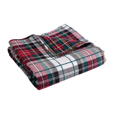 Spencer Plaid Holiday Quilted Throw Multi - Thatch Home