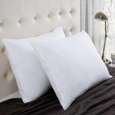 Puredown White Goose Feather Pillows, Set of 2