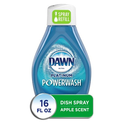 Dawn Platinum Powerwash Dish Spray, Dish Soap, Apple Scent Refill - 16oz
