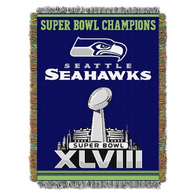 NFL Northwest Commemorative Super Bowl Woven Tapestry Throw