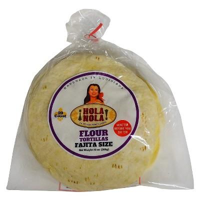 Hola Nola Fajita Size Flour Tortillas - 20oz/20ct