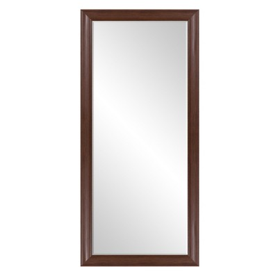 24 x58  Beveled Leaner in Classic Espresso Wood Frame Floor Mirror Brown - Patton Wall Decor