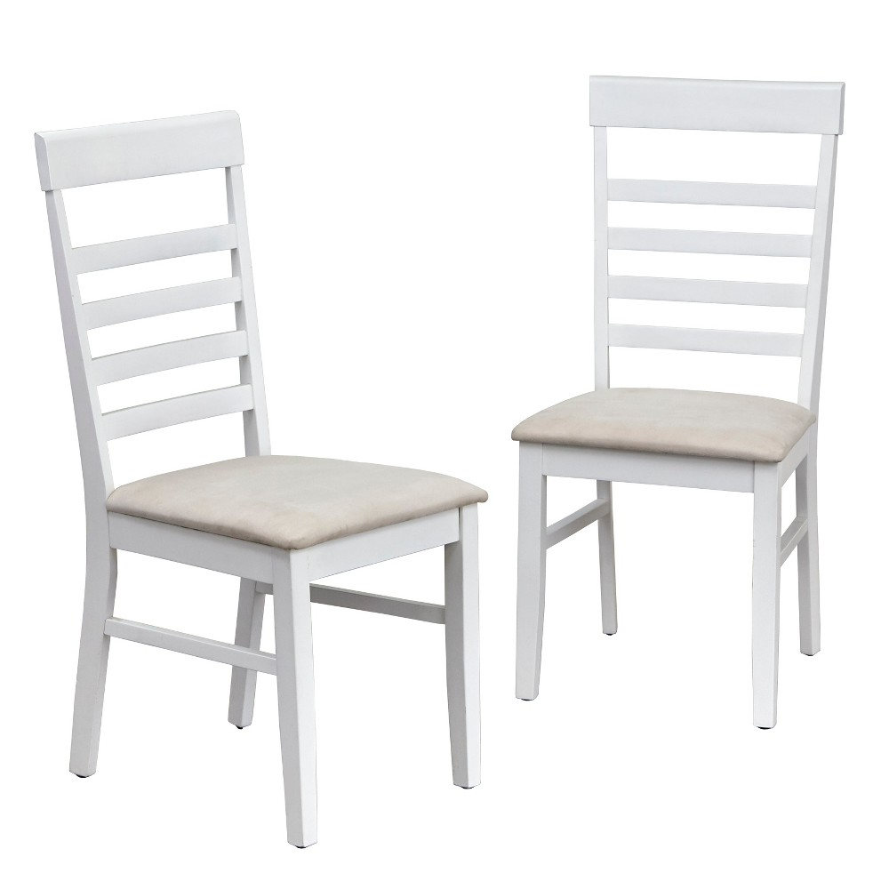 Set of 2 New Castle Dining Chairs White - Buylateral