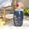"""Lilac 12"""" Iron Side Table - Dark Blue - Christopher Knight Home - image 2 of 4"""
