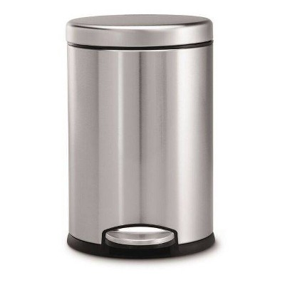 simplehuman 4.5L Round Step Trash Can Brushed Stainless Steel