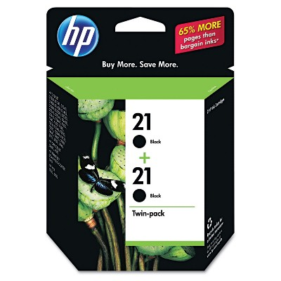 HP Inc. HP 21 (C9508FN) 2-pack Black Original Ink Cartridges