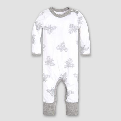 7bedb86b9160 Burt s Bees Baby Boys  Infant Organic Cotton Honey Bee Coverall And ...