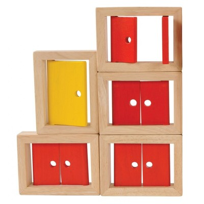 Marvel Education Company Wooden Doors and Windows - 5 Piece Set