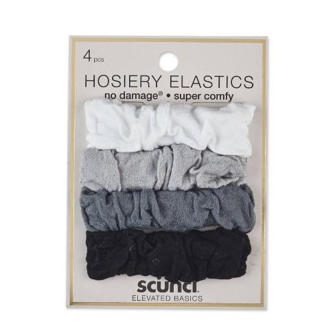 Scunci Soft Hosiery Elastics - 4 pk - image 1 of 4
