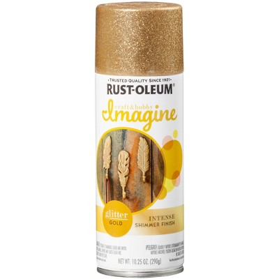 Rust-Oleum 10.25oz Imagine Glitter Spray Paint Gold