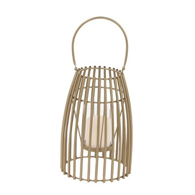 Modern Iron/Glass Decorative Caged Candle Holder - Olivia & May