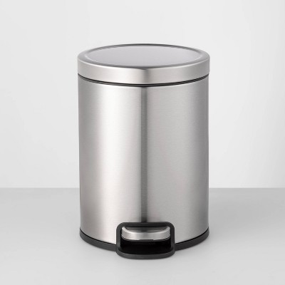 5L Round Step Trash Can Silver - Made By Design™