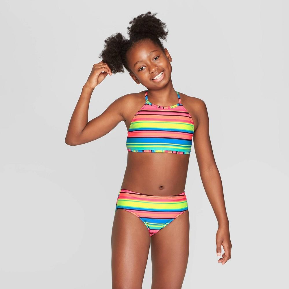 Girls' Palm Palooza Reversible Bikini Set - art class Black Xxl