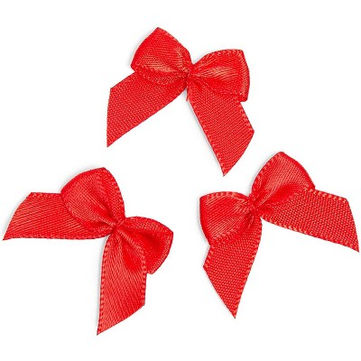"350pcs  1"" x 1.2"" Red Mini Bibbon Bows Appliques for DIY Crafts, Gift Wrapping Accessories and Scrapbooking"