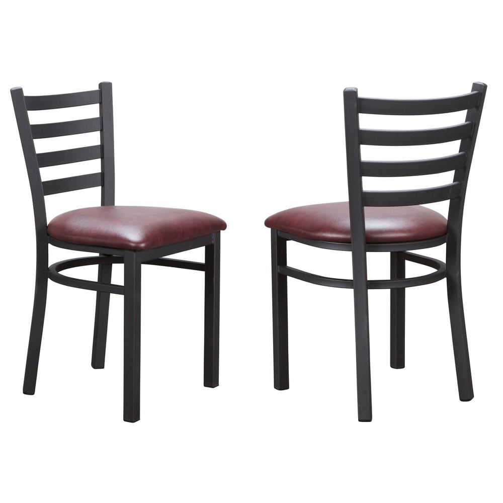Set Of 2 Baxter Metal Side Chairs Black Linon