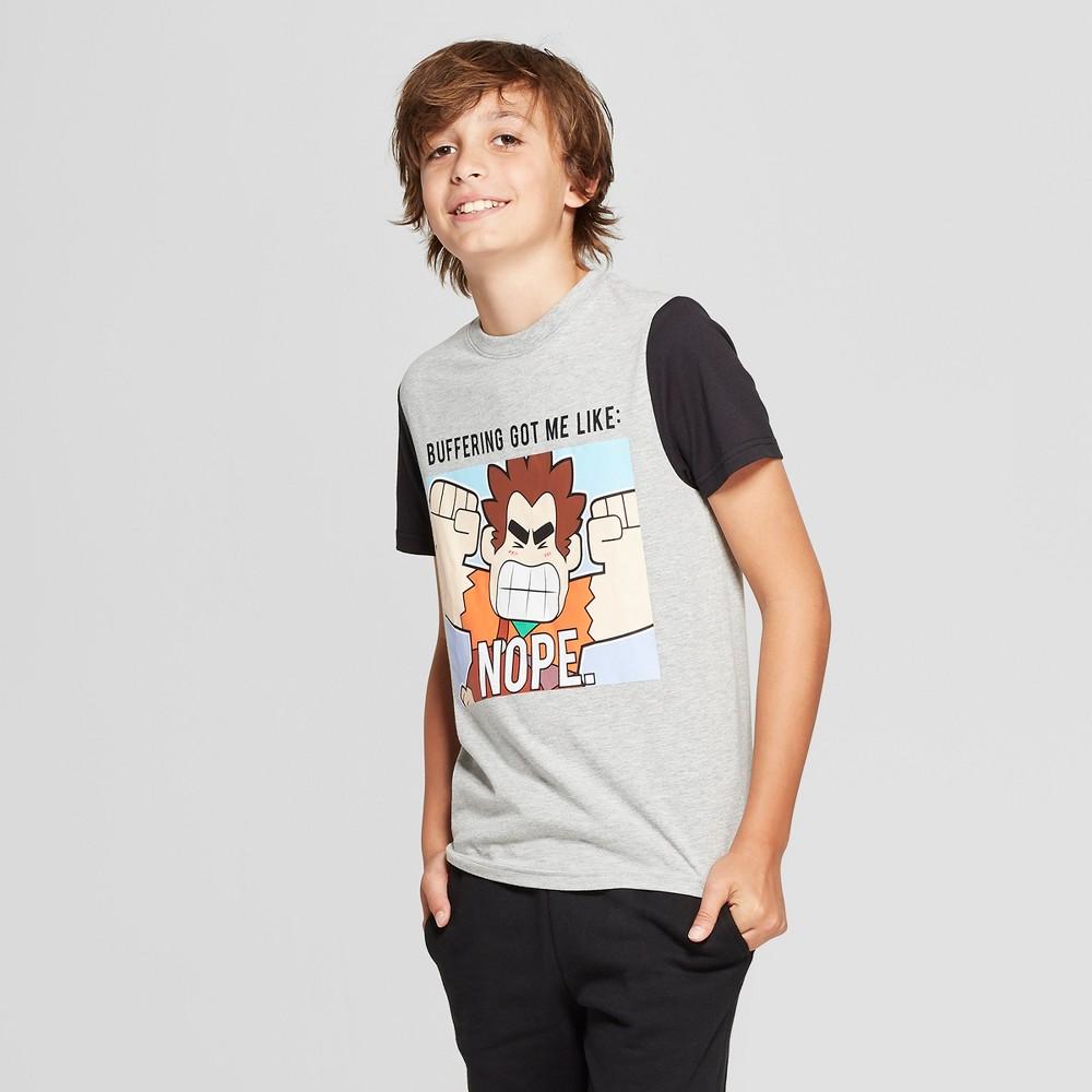 Boys' Wreck-It Ralph Short Sleeve Graphic T-Shirt - Gray/Black XS