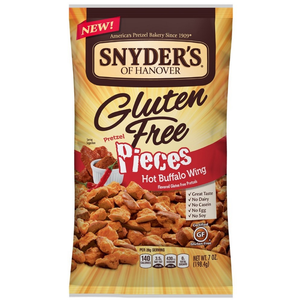 Snyders of Hanover Gluten Free Hot Buffalo Wing Flavored Pretzel Pieces - 7oz