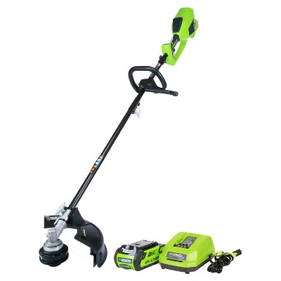 GreenWorks Battery-Powered String Trimmer - Exotic Green