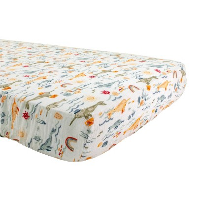 Bebe au Lait Muslin Crib Sheet Narwhal