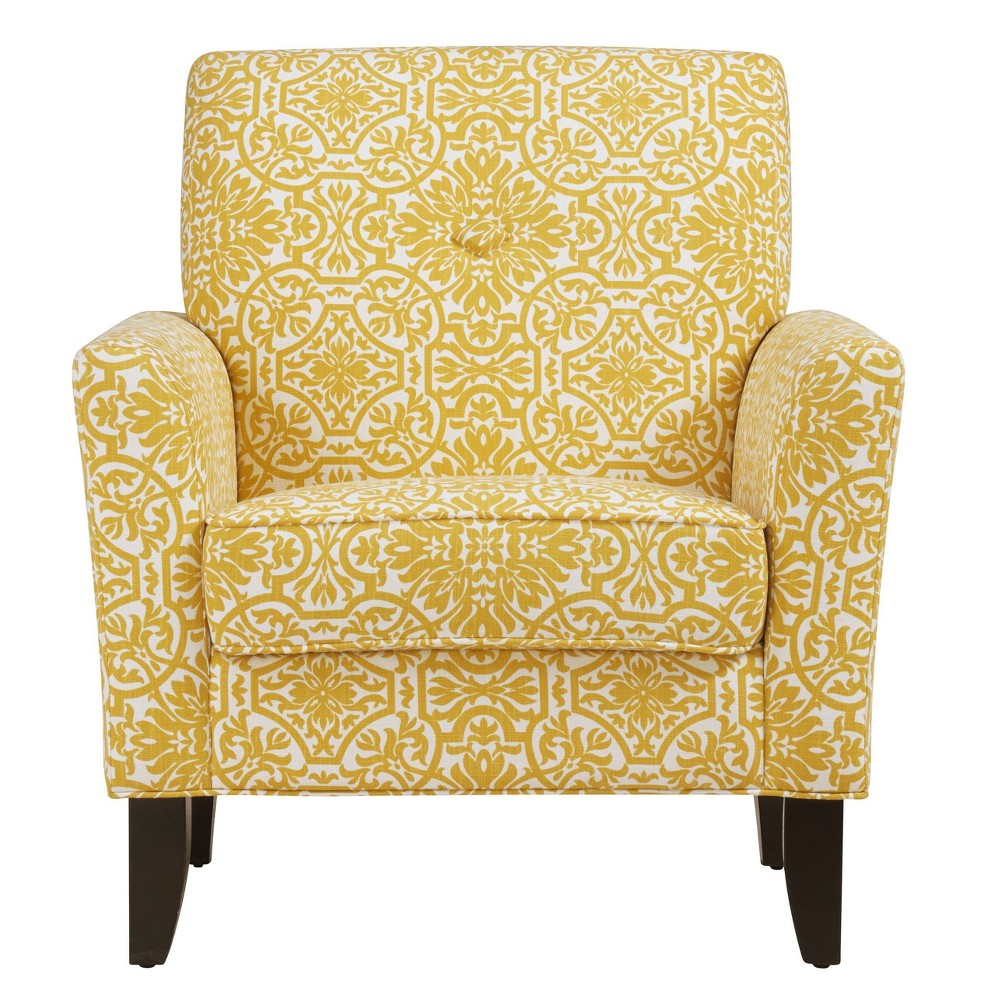 Image of Adrian Arm Chair Damask Gold - Handy Living
