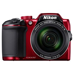 Nikon COOLPIX B500 16MP Digital Camera with 40x Optical Zoom - Red