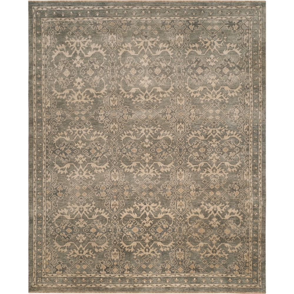 6'X9' Jacquard Knotted Area Rug Gray/Ivory - Safavieh