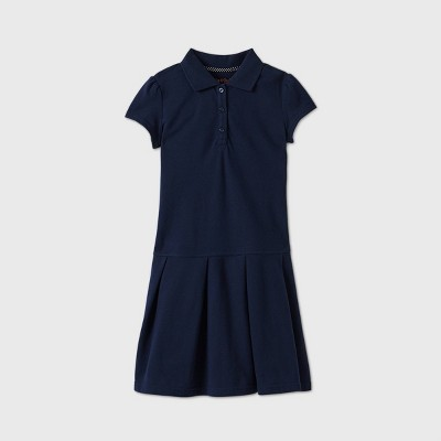 Girls' Short Sleeve Pleated Uniform Tennis Dress - Cat & Jack™ Navy
