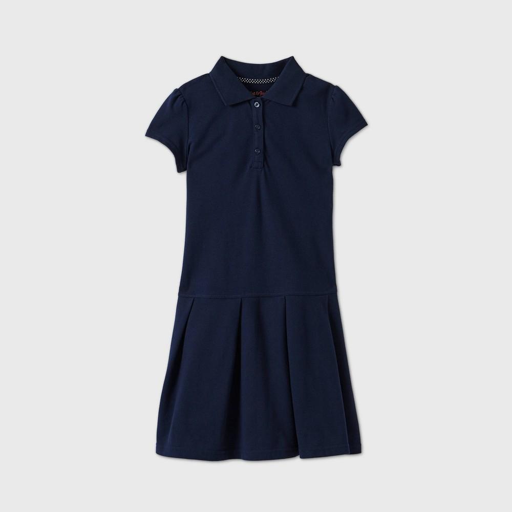 Girls Short Sleeve Pleated Uniform Tennis Dress - Cat & Jack Navy L Blue Reviews