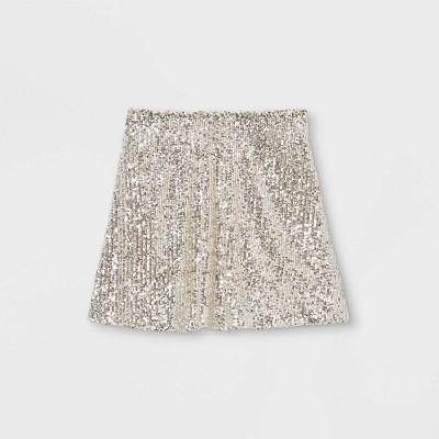 Girls' Sequin Skirt - art class™ Beige