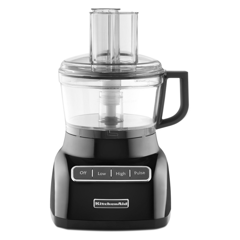KitchenAid Refurbished 7 Cup Food Processor – Black RKFP0711OB 53422791